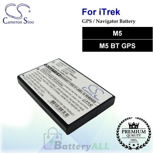 CS-ITM5SL For i.Trek GPS Battery Fit Model M5 / M5 BT GPS