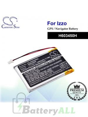 CS-ZSW400SL For IZZO GPS Battery Model H603450H