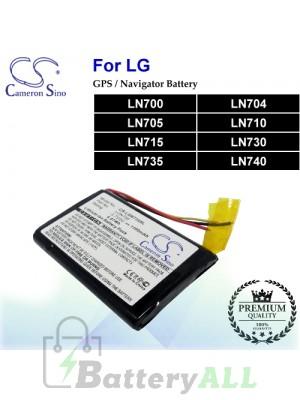 CS-LGN735SL For LG GPS Battery Fit Model LN700 / LN704 / LN705 / LN710 / LN715 / LN730 / LN735 / LN740