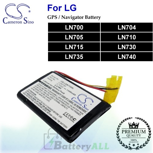 CS-LGN735SL For LG GPS Battery Fit Model LN700 / LN704 / LN705 / LN710 / LN715 / LN730 / LN735 / LN740