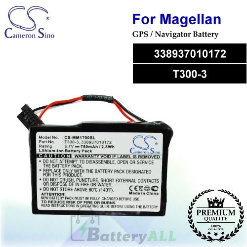 CS-MM1700SL For Magellan GPS Battery Model 338937010172 / T300-3