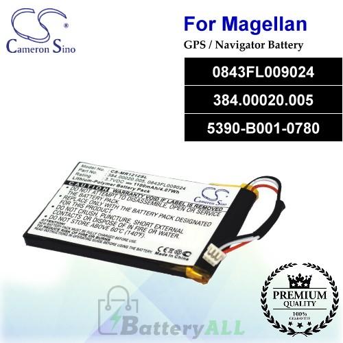 CS-MR1212SL For Magellan GPS Battery Model 0843FL009024 / 384.00020.005 / 5390-B001-0780