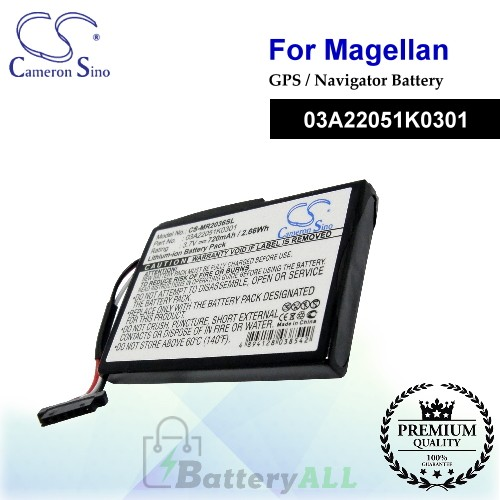 CS-MR2036SL For Magellan GPS Battery Model 03A22051K0301