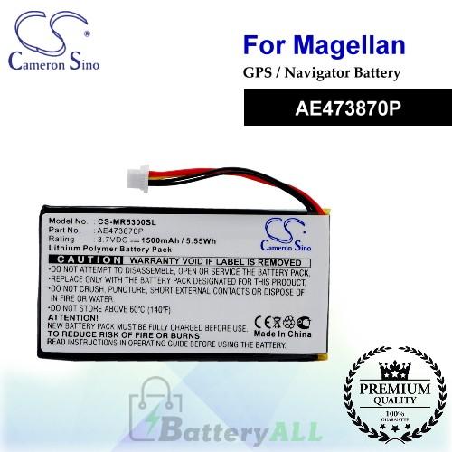 CS-MR5300SL For Magellan GPS Battery Model AE473870P