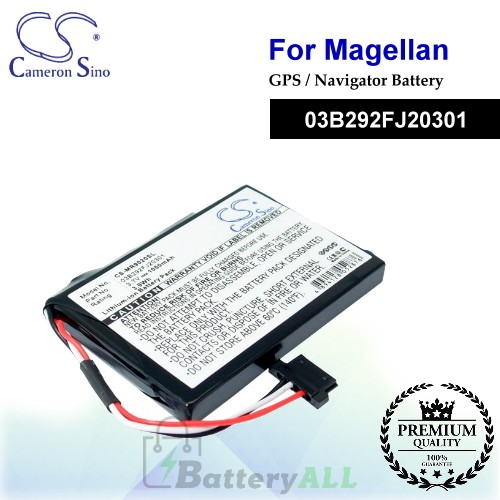 CS-MR9020SL For Magellan GPS Battery Model 03B292FJ20301