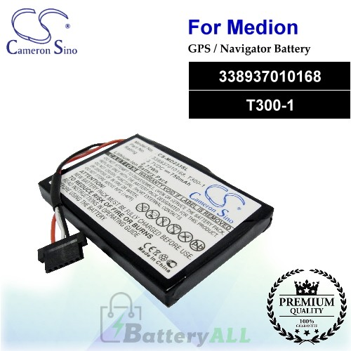 CS-MD233SL For Medion GPS Battery Model 338937010168 / T300-1