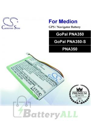 CS-MD350SL For Medion GPS Battery Fit Model GoPal PNA350 / GoPal PNA350-S / PNA350