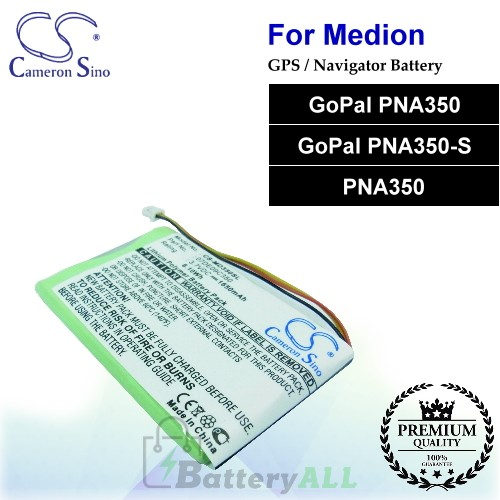 CS-MD350SL For Medion GPS Battery Fit Model GoPal PNA350 / GoPal PNA350-S / PNA350