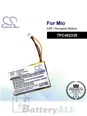 CS-MIV338SL For Mio GPS Battery Model TPC402339