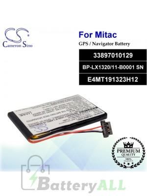CS-MIOC320SL For Mitac GPS Battery Model 33897010129 / BP-LX1320/11-B0001 SN / E4MT191323H12
