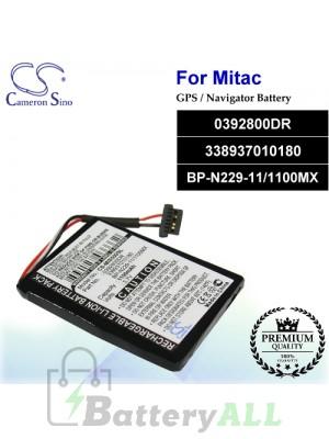 CS-MIS500SL For Mitac GPS Battery Model 0392800DR / 338937010180 / BP-N229-11/1100MX