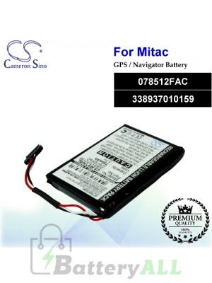 CS-MIV150SL For Mitac GPS Battery Model 078512FAC / 338937010159