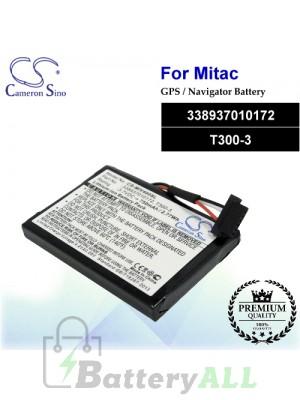 CS-MIV400SL For Mitac GPS Battery Model 338937010172 / T300-3