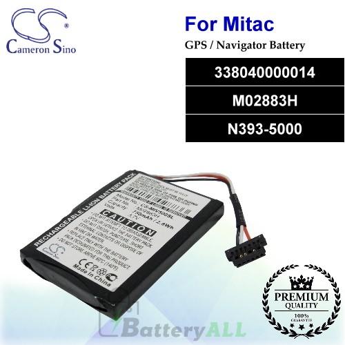 CS-MIV500SL For Mitac GPS Battery Model 338040000014 / M02883H / N393-5000