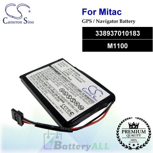 CS-MIV505SL For Mitac GPS Battery Model 338937010183 / M1100