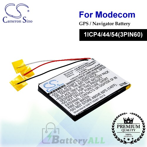 CS-MDX310SL For MODECOM GPS Battery Model 1ICP4/44/54(3PIN60) MX3 HD