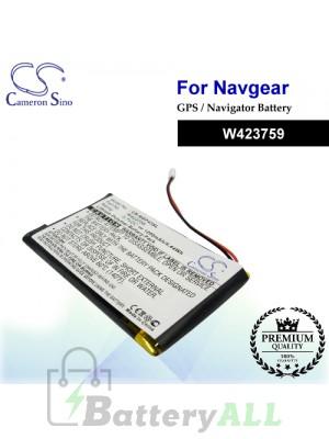 CS-NGP43SL For NavGear GPS Battery Model W423759