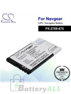 CS-NGX350SL For NavGear GPS Battery Model PX-2759-675