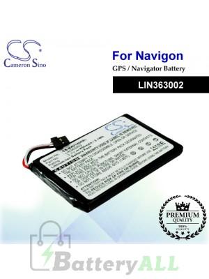 CS-NAV1400SL For Navigon GPS Battery Model LIN363002