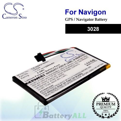 CS-NAV2100SL For Navigon GPS Battery Model 3028