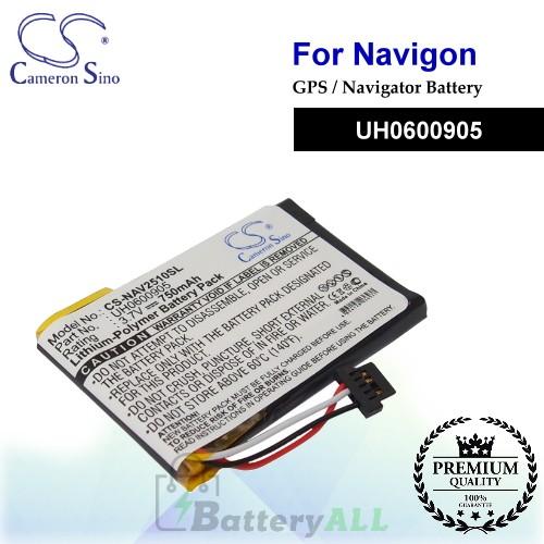 CS-NAV2510SL For Navigon GPS Battery Model UH0600905