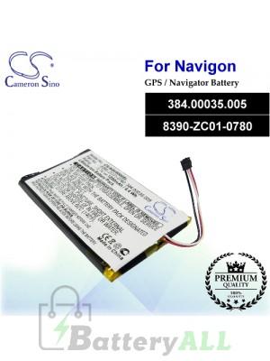 CS-NAV4000SL For Navigon GPS Battery Model 384.00035.005 / 8390-ZC01-0780