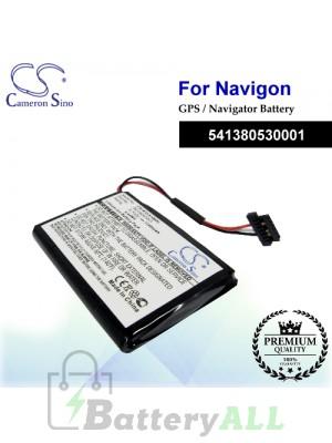 CS-NAV5100SL For Navigon GPS Battery Model 541380530001