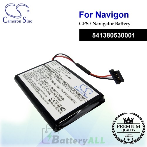 CS-NAV5100SL For Navigon GPS Battery Model 541380530001