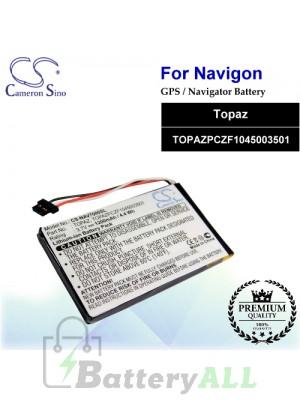 CS-NAV7000SL For Navigon GPS Battery Model Topaz / TOPAZPCZF1045003501