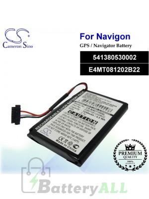 CS-NAV7100SL For Navigon GPS Battery Model 541380530002 / E4MT081202B22