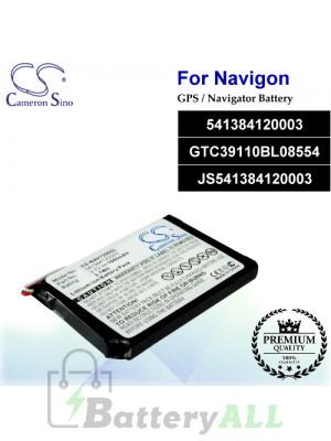 CS-NAV7200SL For Navigon GPS Battery Model 541384120003 / GTC39110BL08554 / JS541384120003