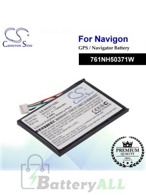 CS-NAV8110SL For Navigon GPS Battery Model 761NH50371W