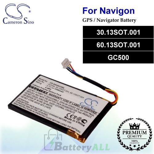 CS-NAV8410SL For Navigon GPS Battery Model 30.13SOT.001 / 60.13SOT.001 / GC500