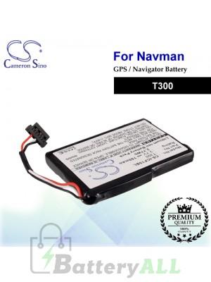 CS-ICF15SL For NAVMAN GPS Battery Model T300