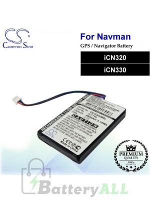 CS-ICN320SL For NAVMAN GPS Battery Fit Model iCN320 / iCN330
