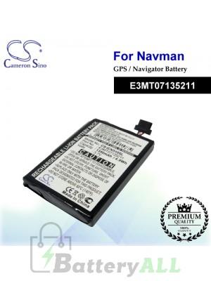 CS-ICN510SL For NAVMAN GPS Battery Model E3MT07135211
