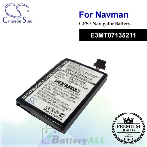 CS-ICN510SL For NAVMAN GPS Battery Model E3MT07135211