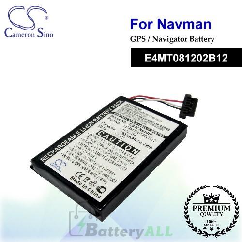 CS-ICN610SL For NAVMAN GPS Battery Model E4MT081202B12