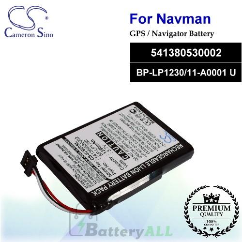 CS-ICS20SL For NAVMAN GPS Battery Model 541380530002 / BP-LP1230/11-A0001 U