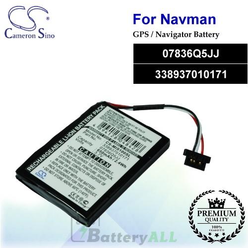 CS-MIS100SL For NAVMAN GPS Battery Model 07836Q5JJ / 338937010171