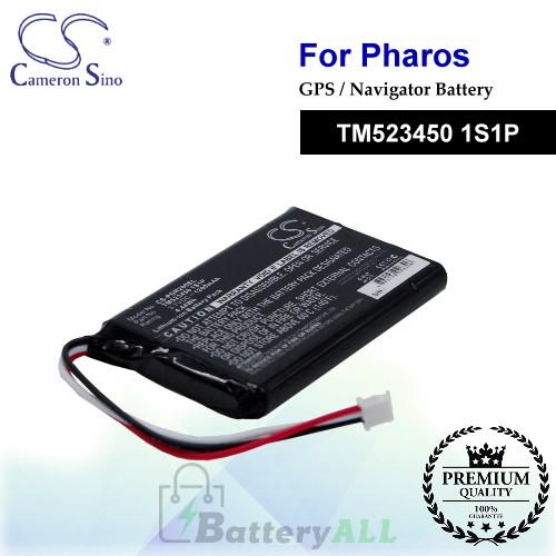 CS-PDR200SL For PHAROS GPS Battery Model TM523450 1S1P