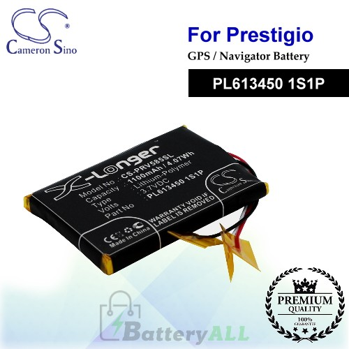 CS-PRV585SL For Prestigio GPS Battery Model PL613450 1S1P
