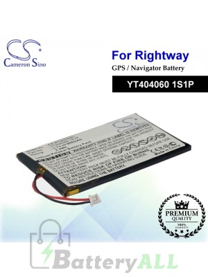 CS-RTW550SL For RightWay GPS Battery Model YT404060 1S1P