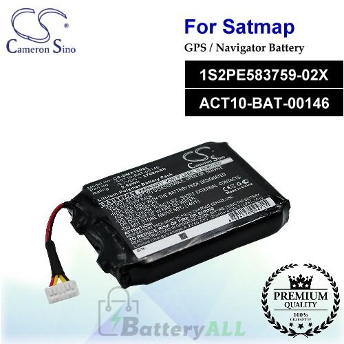 CS-SMA120SL For Satmap GPS Battery Model 1S2PE583759-02X / ACT10-BAT-00146