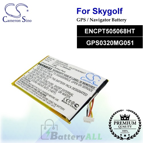 CS-SGX100SL For SkyGolf GPS Battery Model ENCPT505068HT / GPS0320MG051