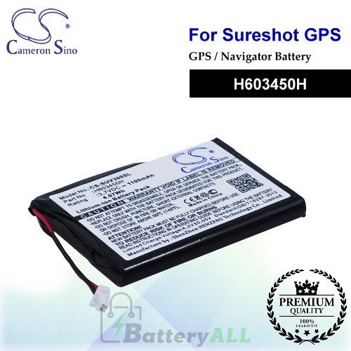 CS-SUV300SL For Sureshotgps GPS Battery Model H603450H