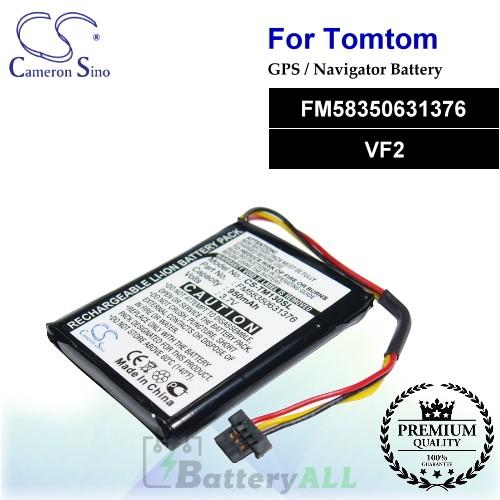 CS-TM130SL For TomTom GPS Battery Model FM58350631376 / VF2