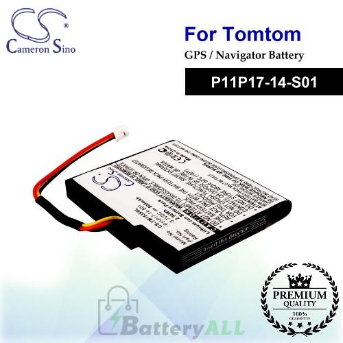 CS-TM1535SL For TomTom GPS Battery Model P11P17-14-S01