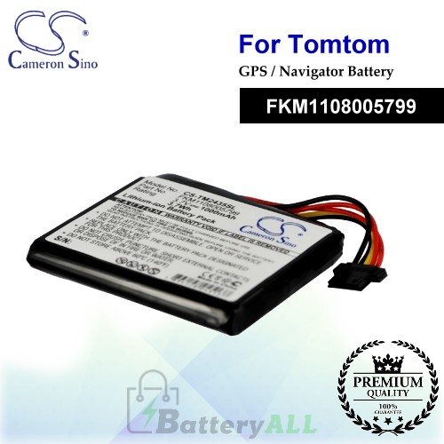 CS-TM2435SL For TomTom GPS Battery Model FKM1108005799