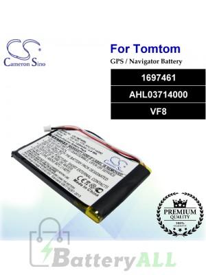 CS-TM730SL For TomTom GPS Battery Model 1697461 / AHL03714000 / VF8